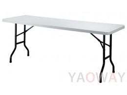 塑鋼桌面折合桌PE-710A
