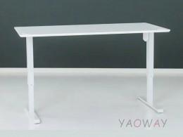 電動升降桌501-33大張陶瓷白-含桌板180x80cm