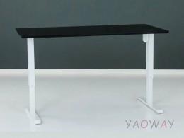電動升降桌501-33大張陶瓷白-含桌板160x80cm
