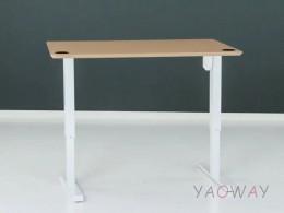 電動升降桌501-33大張陶瓷白-含桌板138x68cm