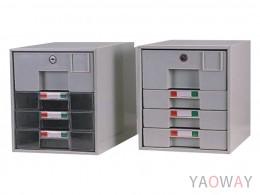 單排(A4.規格)【可上鎖】桌上型效率櫃系列 /高30(cm)