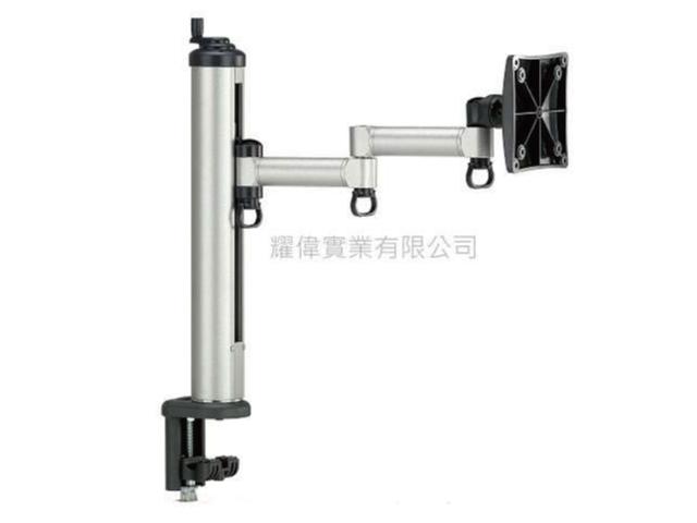 FOGIM [夾桌/穿桌]旋轉式液晶螢幕支架(單螢幕) TKLA-1022