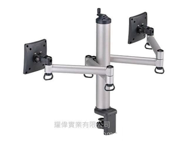 FOGIM [夾桌/穿桌]旋轉式液晶螢幕支架(雙螢幕) TKLA-1222