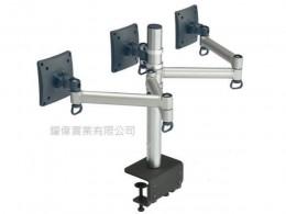 夾桌懸臂式液晶螢幕支架(三螢幕)