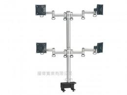 夾桌懸臂式液晶螢幕支架(四螢幕)