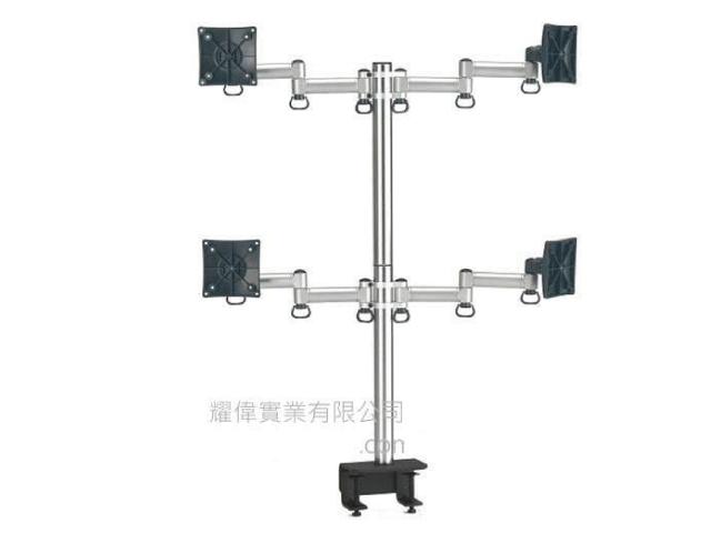 FOGIM 夾桌懸臂式液晶螢幕支架(四螢幕) TKLA-6034-SM