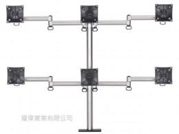 夾桌懸臂式液晶螢幕支架(六螢幕)