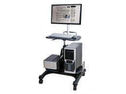 aidata LPD303P 3合1移動式 桌上型 電腦桌 筆電桌 LCD螢幕桌 (附螢幕支撐架)
