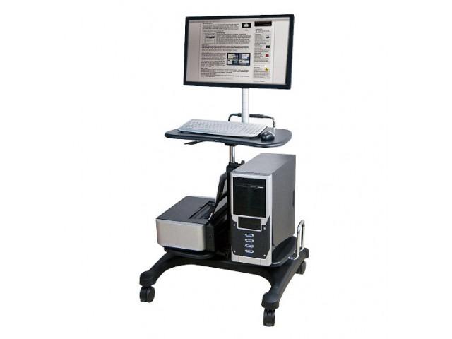 aidata 3合1移動式桌上型電腦/筆電/LCD螢幕桌(附螢幕支撐架)