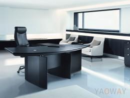 DS-L9086主管桌(馬鞍皮)