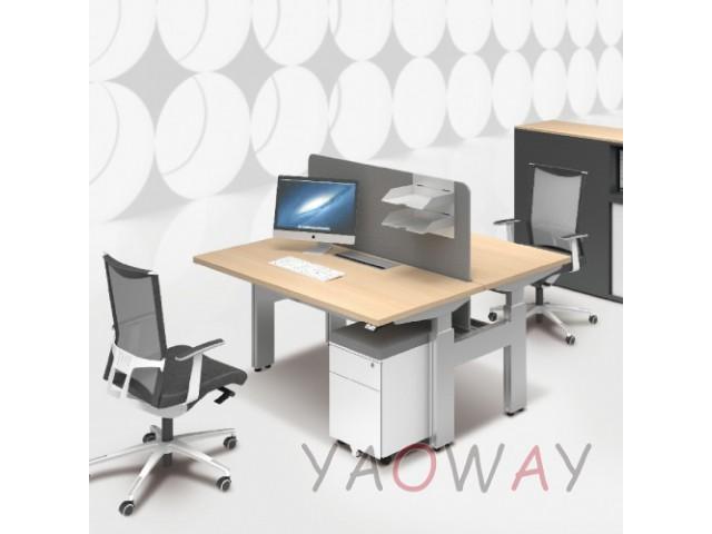 兩人對坐升降工作站160X70X2桌面