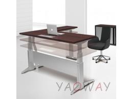L型主管電動桌(規格色)160X150側桌70