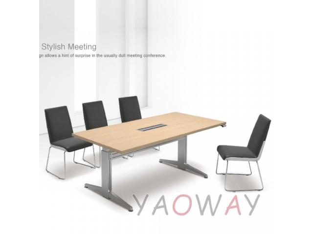 八人電動會議桌(規格色)210X90桌面 二桌腳
