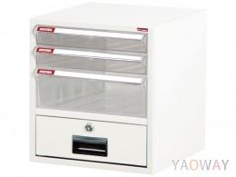 單排(A4.規格)桌上型【可上鎖】效率櫃系列 A4-104K/高29.7(cm)