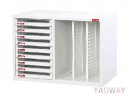 雙排(A4.規格)桌上型效率櫃系列 A4X-109P2V/高44(cm)