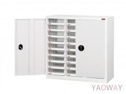 三排(A4.規格)落地型【可上鎖 加門】效率櫃系列 A4X-327HD 高88(cm)