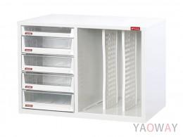 雙排(A4.規格)桌上型效率櫃系列 A4XM1-4H1P2V /高44(cm)