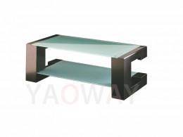C字型客廳主桌-黑色不銹鋼電鍍CT-C01BLC