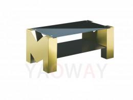 M字型客廳主桌-鍍鈦金CT-M01GOB