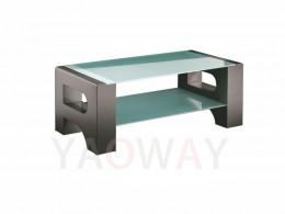 R字型客廳主桌-黑色不銹鋼電鍍CT-R01SSC