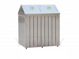 不銹鋼二分類資源回收桶TH2-109S