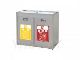 不銹鋼二分類資源回收桶TH2-80S