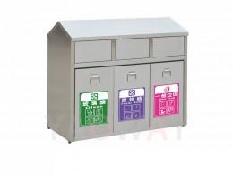 不銹鋼三分類資源回收桶TH3-100S