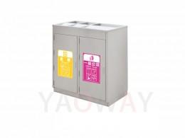 不銹鋼三分類資源回收桶TH3-1016SAR
