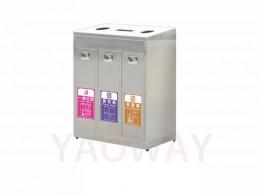 不銹鋼三分類資源回收桶TH3-110SAR