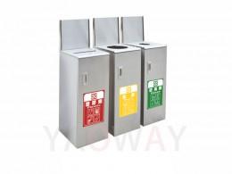 不銹鋼三分類資源回收桶TH3-112S