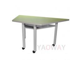 705FSM (梯型桌板)掀合桌 會客室/ 會議室 及多功能教室 (討論教室, 翻轉教室) 含輪